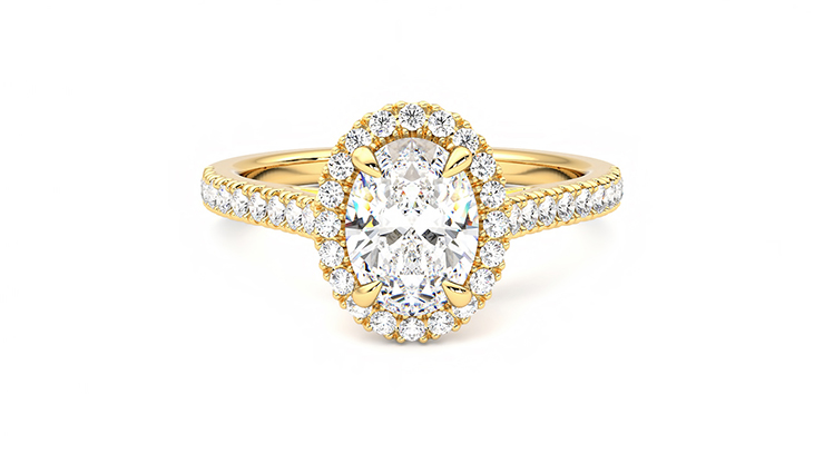 Taylor & Hart Allure Oval Engagement Ring 360 detail 01