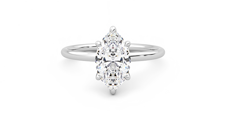Taylor & Hart Demure Marquise Engagement Ring 360 detail 01