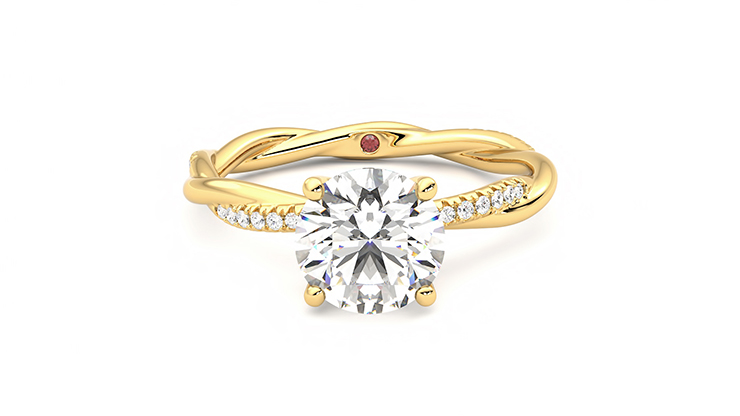 Taylor & Hart Enamour Round Engagement Ring 360 detail 01
