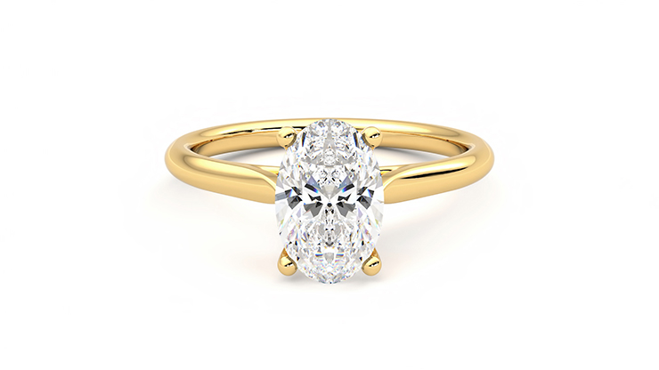 Taylor & Hart Hope Oval Engagement Ring 360 detail 01