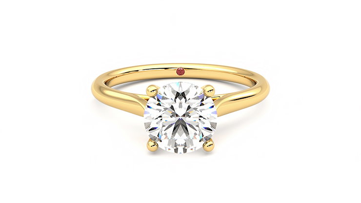 Taylor & Hart Hope Round Engagement Ring 360 detail 01