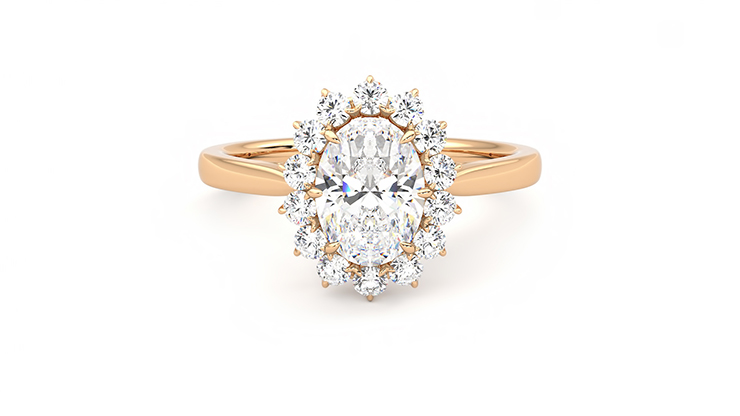 Taylor & Hart Lyra Oval Engagement Ring 360 detail 01