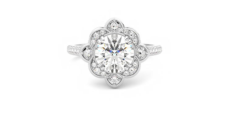 Taylor & Hart Neptune Round Engagement Ring 360 detail 01