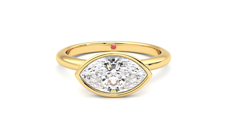 Taylor & Hart Purity Marquise Engagement Ring 360 detail 01