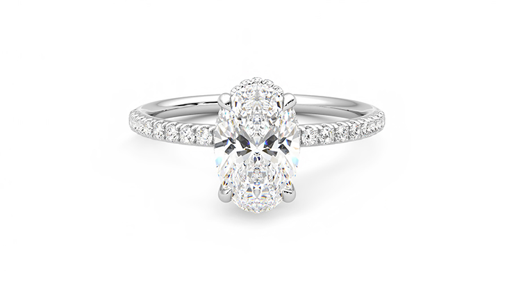 Taylor & Hart Thyme Oval Engagement Ring 360 detail 01