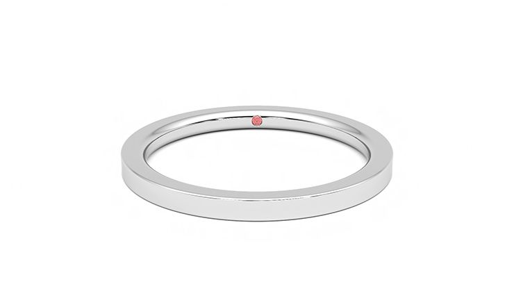 Taylor & Hart Sycamore White Wedding Ring 360 detail 01